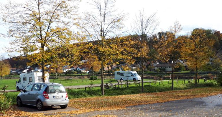 """WoMo-Stellplatz """"Landhotel Alte Linde"""" an der Weser"""