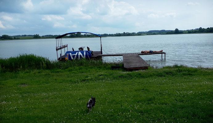 Der Badesteg am Campingplatz