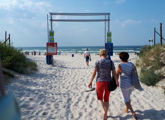 Hier beginnt der Strand