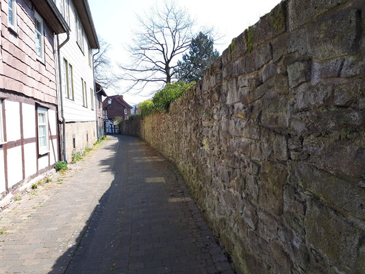 an der Stadtmauer von Dassel