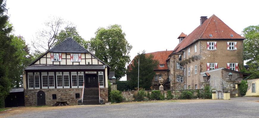 Schloss Petershagen, der Hotelbetrieb ist schon lange eingestellt