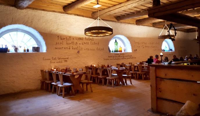 Das Restaurant, schön hergerichtet