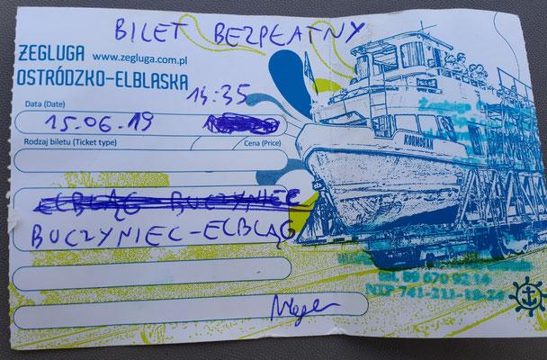 Kurzfristige Probleme mit dem handschriftlich ausgefülltem Ticket