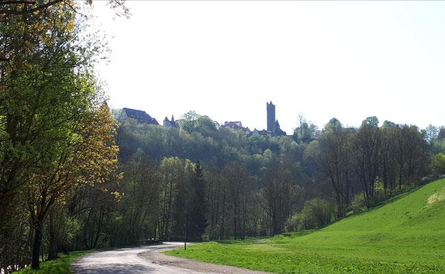 Blick auf Rothenburg ob der Tauber