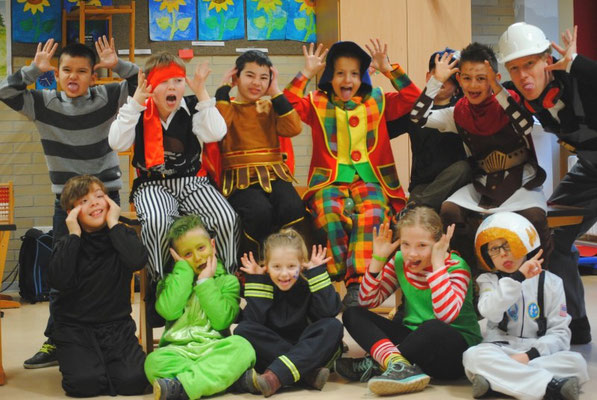 Karnevalsfeier in der Rabenklasse