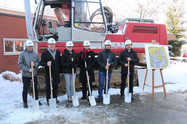 Thomas Beugger, Remo Bossert, Christine Mangold, Monica Gschwind, Raphael Graf und Daniel Dähler (von links) stehen bereit.