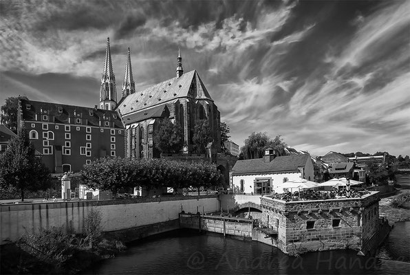Blick auf Vierradenmühle, St. Peter und Paul Kirche und Waidhaus