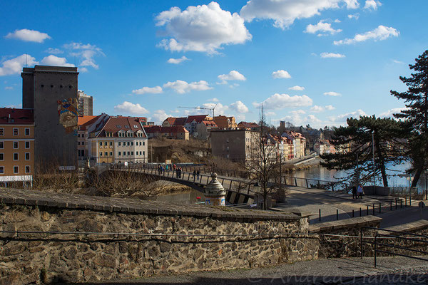 Blick über die Altstadtbrücke nach Zgorzelec