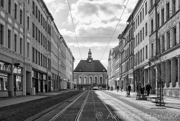 Berliner Straße, Blick zum Bahnhof