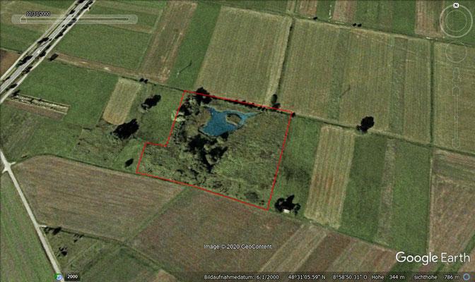 Projektgebiet im Jahr 2000 (1,5 Hektar)
