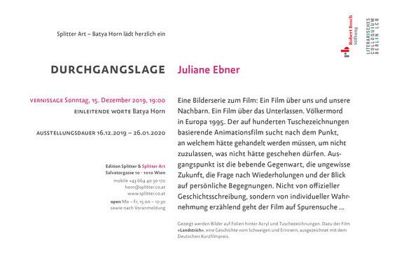 DURCHGANGSLAGE | Juliane Ebner 2019