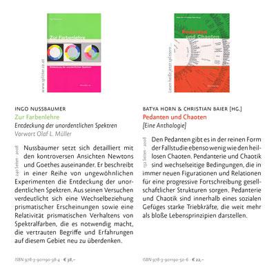 Zur Farbenlehre & Pedanten und Chaoten