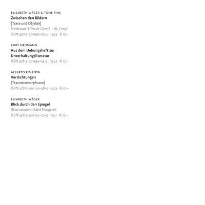 Edition Splitter BACKLIST 2016 – Eine Auswahl aus dem lieferbaren Programm