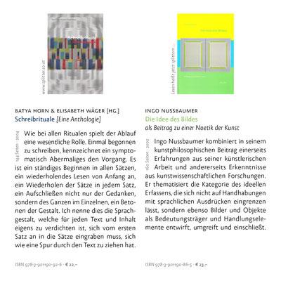 Schreibrituale & Die Idee des Bildes