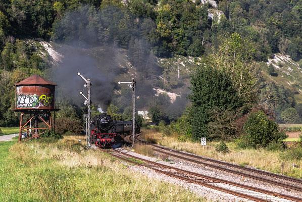 Eisenbahn-Romantik Dampflok  im Donautal
