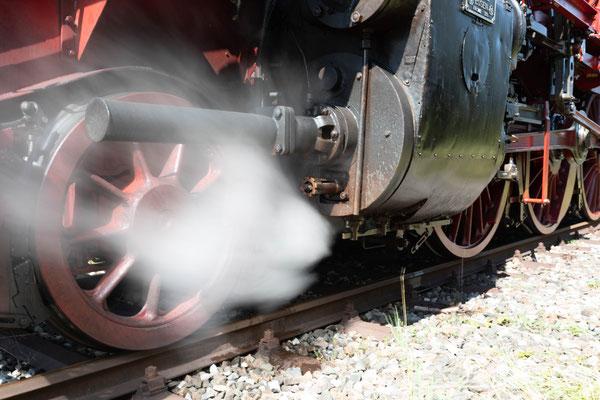Eisenbahn-Romantik Dampflok auf der Biberbahn