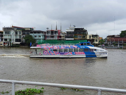 The river boat, a great alternative to cars, especially in the dense Bangkok traffic.