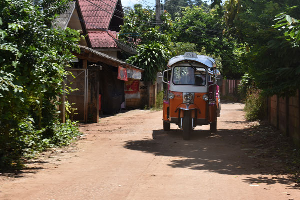 Start with the Tuk Tuk from Chiang Mai