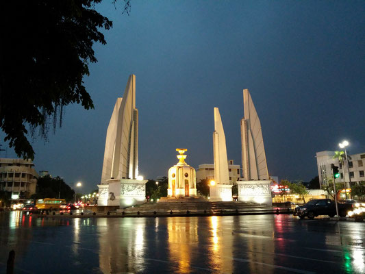 Democracy Monument  at Ratchadamnoen Avenue, Bangkok