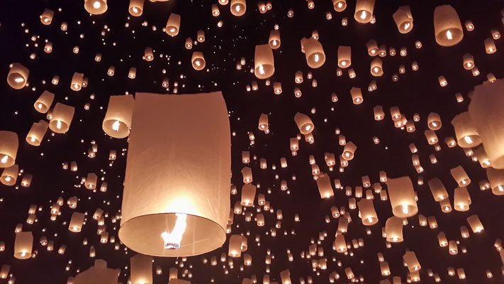 Loy Krathong in Chiang Mai is a once in a lifetime experience