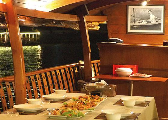 Dinner on the ship