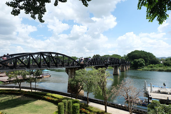 The Bridge over the River Kwai at Kanchanaburi