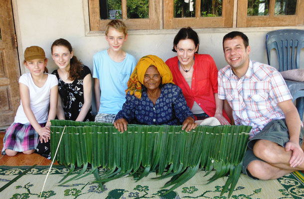 Palm Leave Weaving at the Village