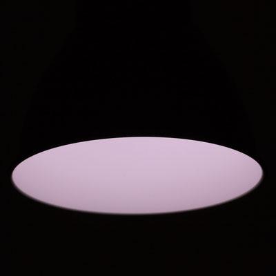 Apparatur im Betrieb Lichtfarbe