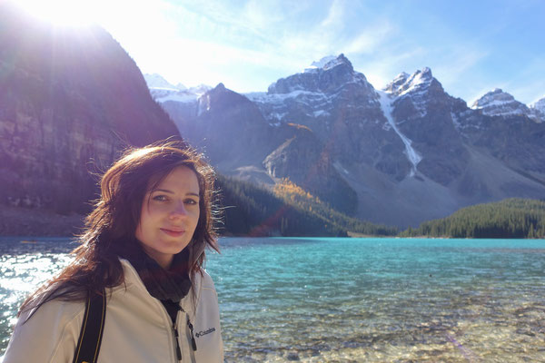 My wife at the Moraine Lake