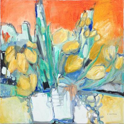 Les tulipes 80x80cm