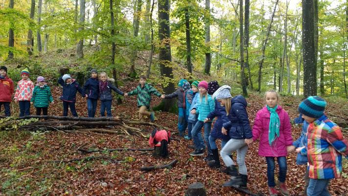 Aktion im Wald