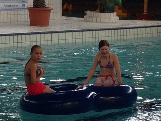 Schwimmen im badkap