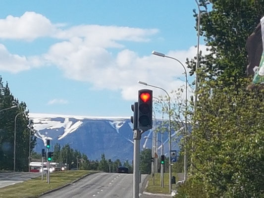 Ampel in Akureyri