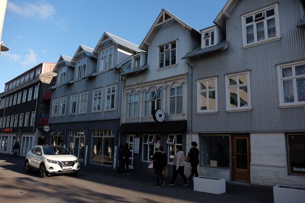 Einkaufsstraße in Reykjavik
