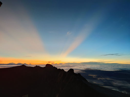 Sonnenaufgang am Low's Peak, Mount Kinabalu, Sabah, Borneo, Malaysia