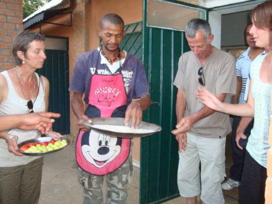 Atelier cuisine, voyage solidaire de Tosoco