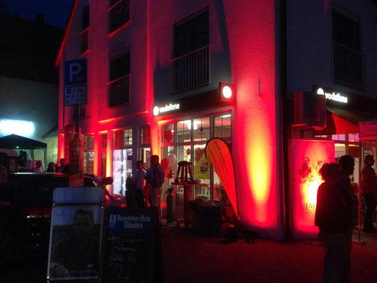 Beleuchtung einer Werbeveranstaltung für Vodafone in Herrsching (2014)