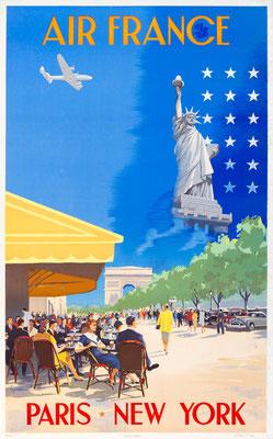 Air France - Paris * New York - Vincent Guerra - 1951