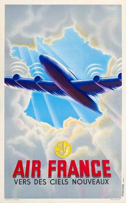 Air France - Vers de ciels nouveaux - 1946