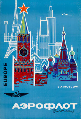 Aeroflot - Europe via Moscow - Be - 1968