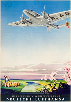 Deutsche Lufthansa - Luftverkehr - Schnellverkehr - Kurt Wendt - 1937