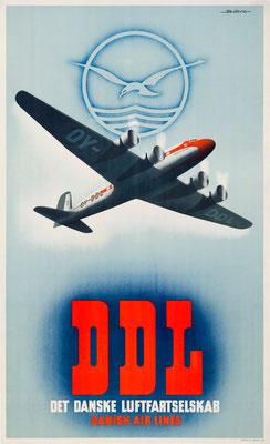 DDL - De Danske Luftfartselskab - Bjørvig - 1948