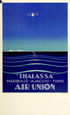 Edmond Maurus - Air Union - Thalassa - Vintage Art Deco Poster