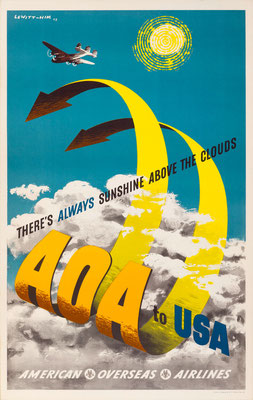 AOA - AOA to USA There's always sunshine above the cloud - Lewitt-Him - 1948