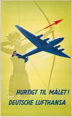 Deutsche Lufthansa - Hurtigt til målet! - Willy Hanke - 1939