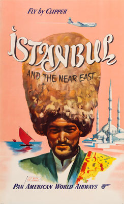 Pan American World Airways - Istanbul by Clipper - 1950s