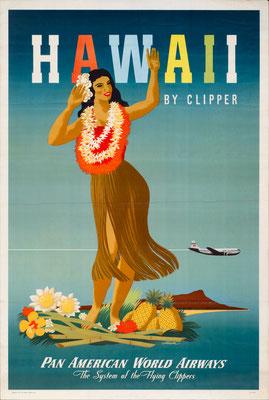 Pan American World Airways - Hawaii by Clipper - John Atherton - 1948