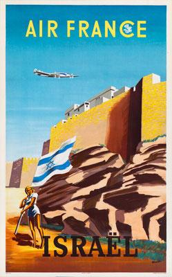 Air France - Israel - Renluc - 1949