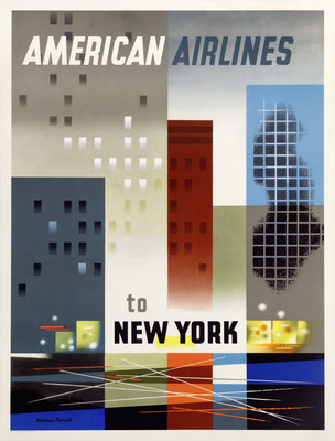 American Airlines - to New York - Weimer Pursell - 1950s