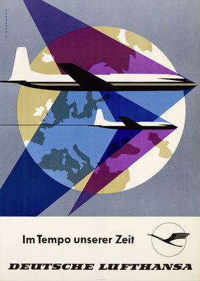 Deutsche Lufthansa GmbH (GDR) - Im Tempo unserer Zeit - E. + G. Bormann